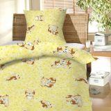 Povlečení bavlna do postýlky - Štěně žluté Hybler textil