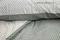 Obojstranné bavlnené obliečky s hviezdičkami vo farbe bielošedivej Fitex