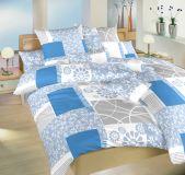 Obliečky satén Bluemoon modrý