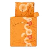 Obliečky z mikroflanelu Púpava oranžová