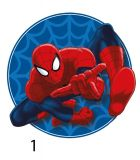 Tvarovaný plnený vankúšik Spiderman