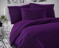 Saténové obliečky tmavo fialové