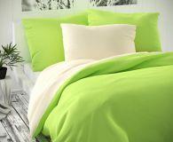 Smotanovo zelené saténové obliečky
