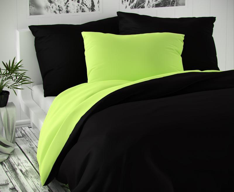 Saténové obliečky zeleno čierne luxusné Kvalitex