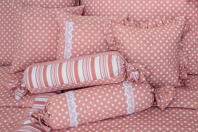 Poťah jednoduchý bodky na ružovom podklade český výrobce
