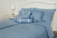 Bavlnené obliečky Bodka modrá
