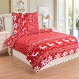 Mikroflanelové obliečky Soby červené