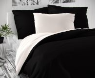 Saténové obliečky čiernobiele luxusné Kvalitex