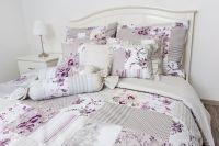 Bavlnené obliečky Patchwork Deluxe  šedo-lila