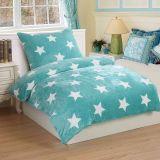 Obliečky mikroflanel Stars mint