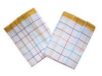 Utierka Bavlna z egyptskej bavlny 50x70 farebný prúžok - žltá 3 ks
