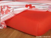Jersey plachta vo farbe terakota Dadka