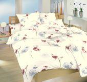Bavlnené obliečky bielej farby s motívom kvetín, kvetov, orchidea Dadka