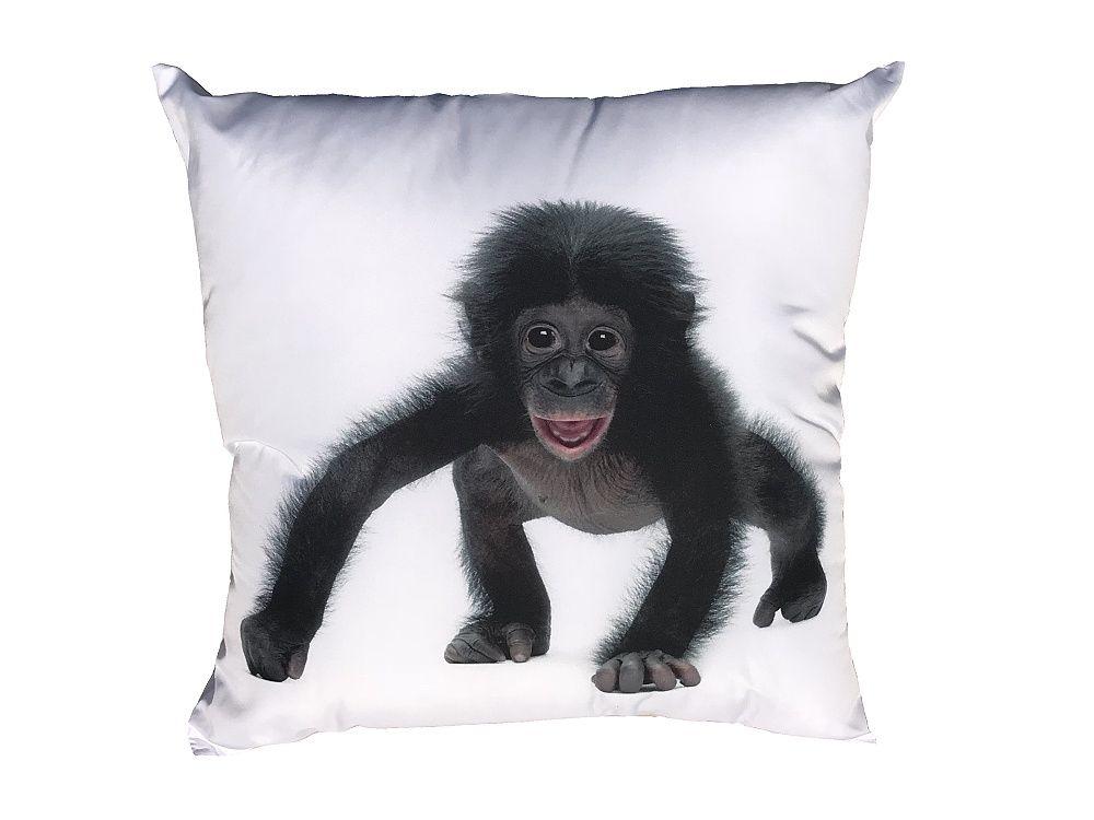 Vankúšik s motívom čierneho opičiaka Dadka