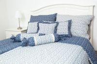Poťah valček VĚTVIČKY modro-bílé český výrobce