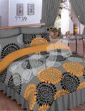 Krepové obliečky šedé s oranžovými kruhmi Dadka