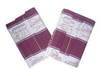 Bavlnené utierky malinové Čajová súprava - 3 ks Svitap