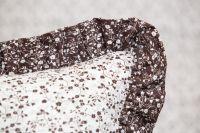Krepové obliečky Větvičky hnědo-bílé český výrobce