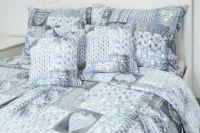 Obliečky MIKROFLANEL SRDCE PLETENÁ modrošedá