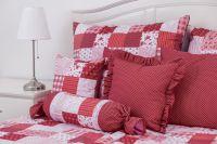 Bavlnené obliečky Patchwork Červený/puntík