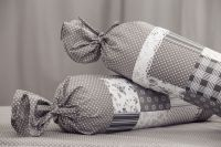 Bavlnené obliečky Patchwork šedomodrý /puntík český výrobce