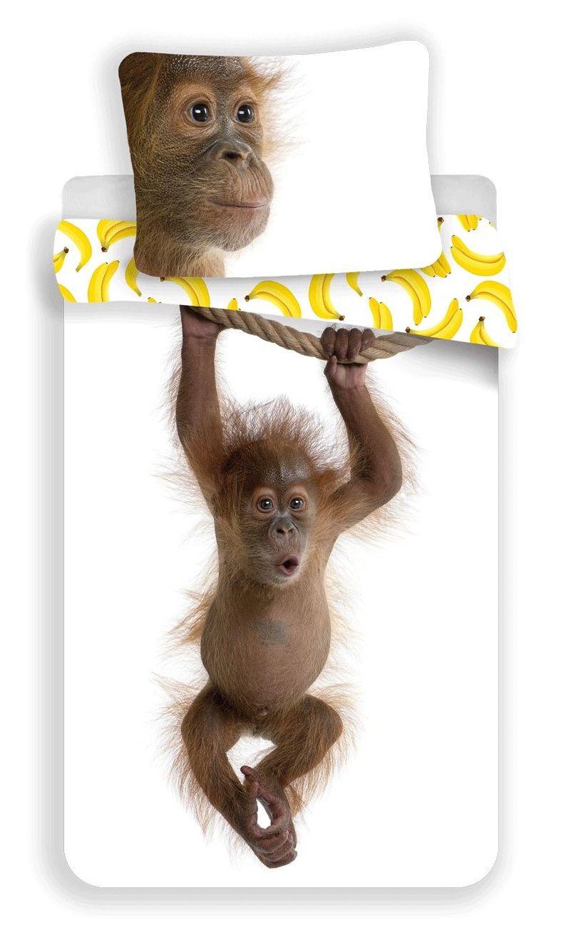 Obliečky bavlnené Orangutan - opica Jerry Fabrics