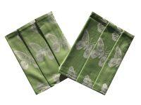 Utierka Extra savá 50x70 Motýle - zelená - 3 ks