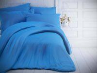 Jednofarebné bavlnené obliečky modré