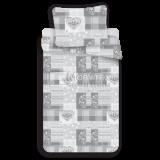 Mikroflanelové obliečky Patchwork grey