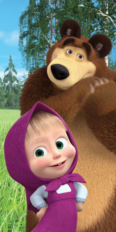 Detská osuška Máša a Medveď v lese Jerry Fabrics