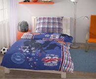 Posteľné obliečky pre mladých 140x200, 70x90cm Basket modrý
