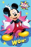 Detská fleecová deka Mickey Bam