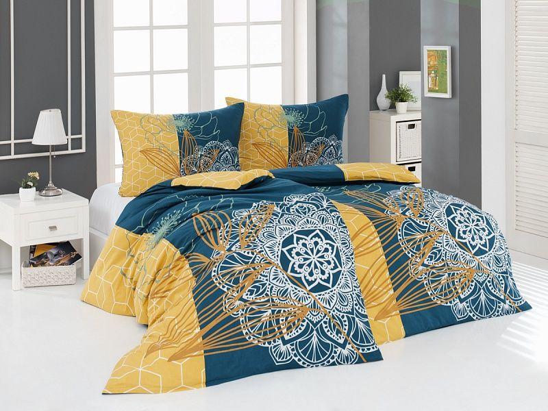 Kvalitné bavlnené obliečky Manna s mandalovým a kvetinovým vzorom. Matějovský