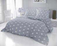 Bavlnené moderný obliečky DELUX STARS šedé
