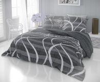 Bavlnené moderný obliečky DELUX VALERY šedé