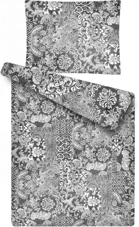 Obliečky z mikroflanelu Patchwork šedý s motivem patchworku