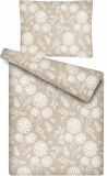 Obliečky MIKROFLANEL Kvety hnědé