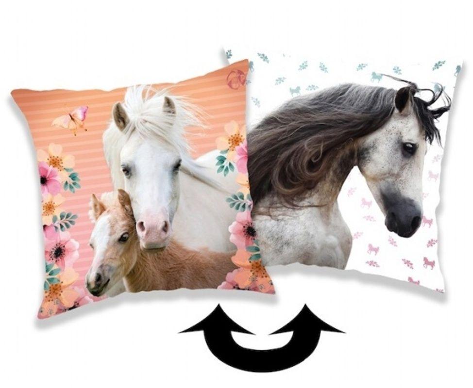 Vankúšik s motívom koňa a flitrami Horse square Jerry Fabrics