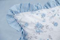 Poťah jednoduchý s drobným modrým průžkom a růží