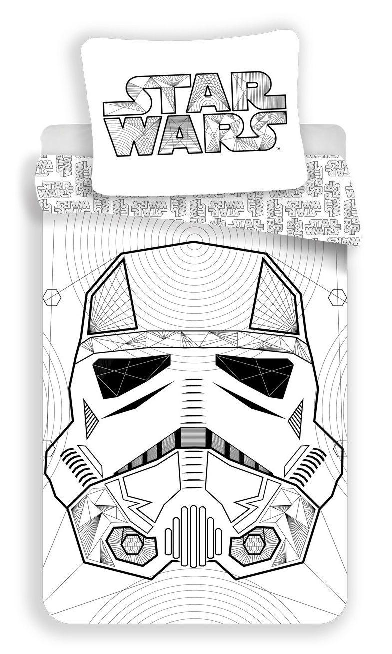 Kvalitné bavlnené obliečky bielej farby Star Wars Jerry Fabrics