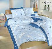 Obliečky krep Galaxie modrá