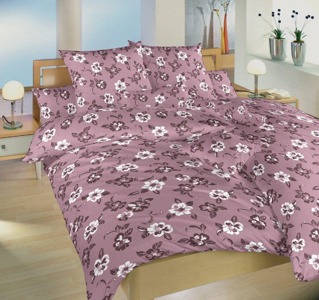 Kvalitné krepové obliečky bordó farby s motívom kvetov Patricie bordó Dadka