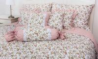 Bavlnené posteľné obliečky Kvietok růžová