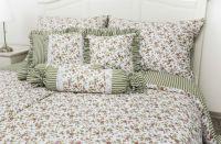 Bavlnené posteľné obliečky Kvietok zelený