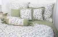 Bavlnené posteľné obliečky LEVANDULE s prúžkom zeleným