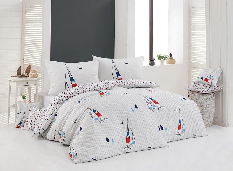 Kvalitné bavlnené obliečky Avente s námorníckymi prvkami Matějovský