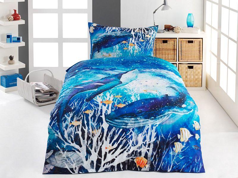 Kvalitné bavlnené obliečky Deep Blue v nádherných modrých farbách Matějovský