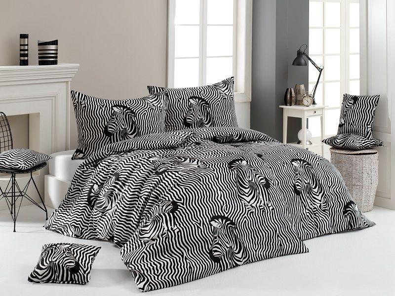 Kvalitné bavlnené obliečky Zebry v čierno-bielom vyhotovení Matějovský