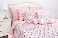 Krepové posteľné oblečky ROSE / UNI pink