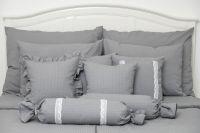 Poťah valček šedý jednofarebný